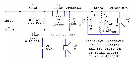2 way crossover eaw wiring diagram 2 wiring diagrams zilch s ak design collaborative econowave speaker page 776