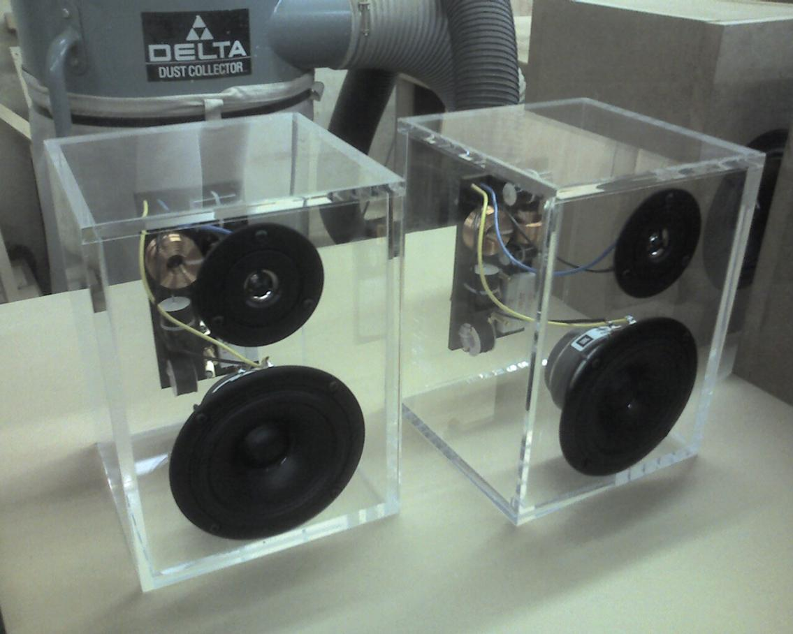Plexiglass Cabinets Techtalk Speaker Building Audio