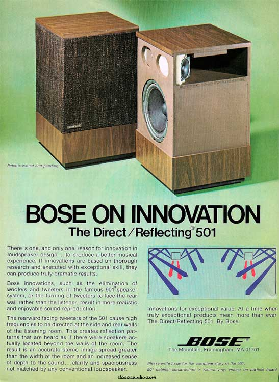Enceintes Bose Direct Reflecting 501 Serie Iii Bernard