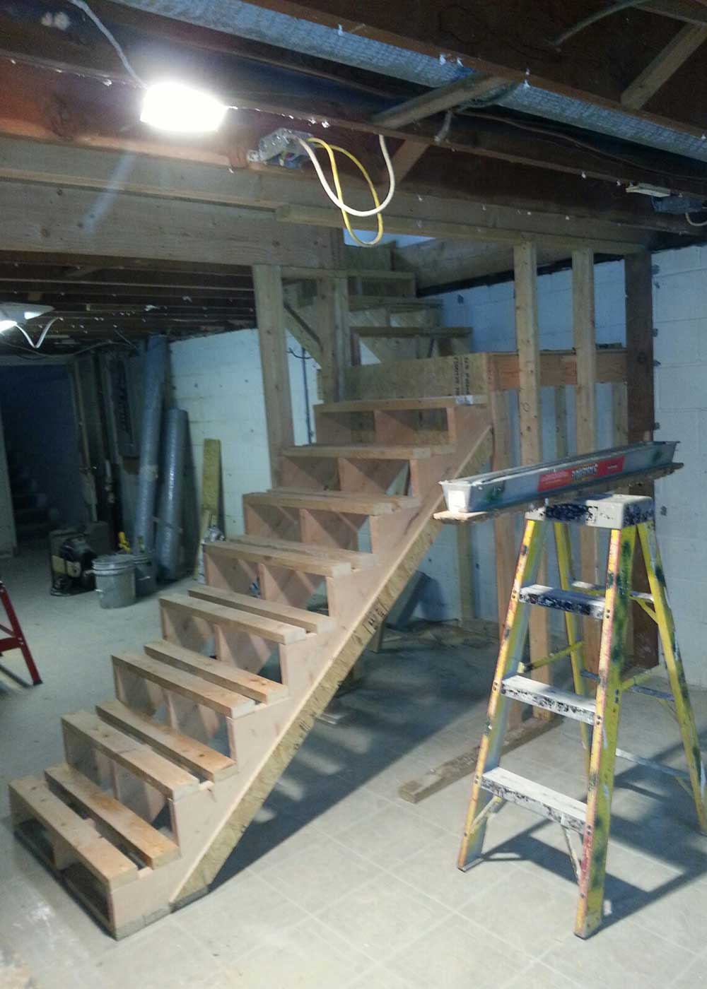 Snap Building The Stairs And Installation Spackle Sawdust Photos On Stairsstaircaseconstructiondiagram Anyone Making Winter Techtalk Speaker Audio Video Discussion Forum