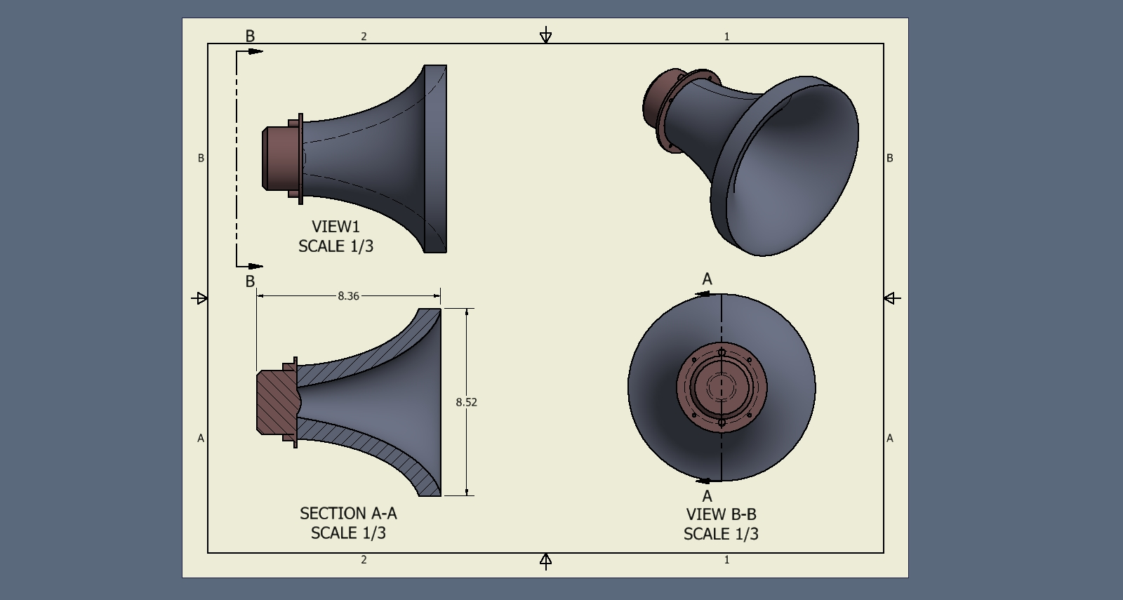 Large Horn Wave Guide - Techtalk Speaker Building, Audio