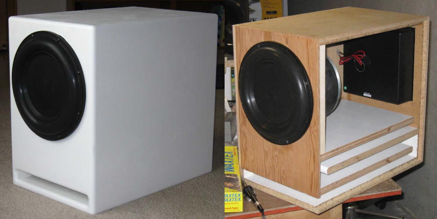 Mounting Subwoofer With Cone Facing Into Cabinet