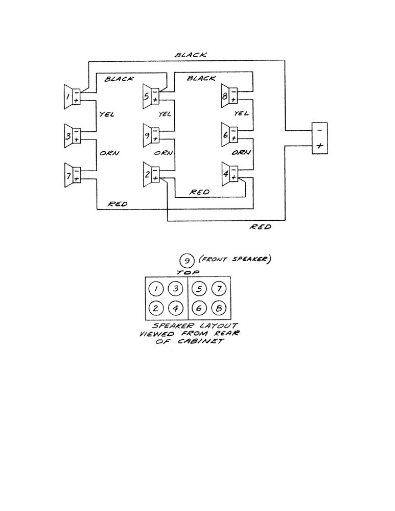 wiring diagram for  u0026quot 9 u0026quot  8ohm loudspeakers