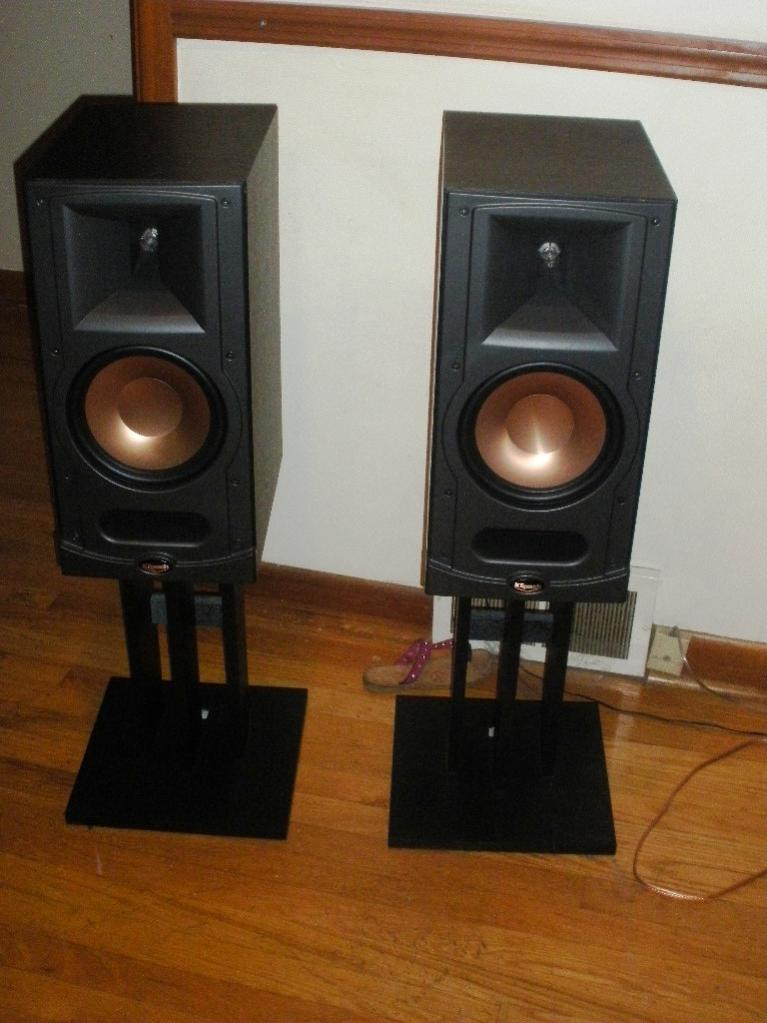 fs klipsch rb 81 w stands techtalk speaker building. Black Bedroom Furniture Sets. Home Design Ideas