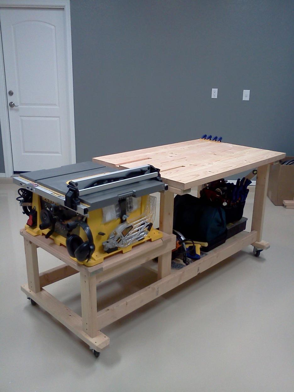 Latest Project Table Saw Workbench Techtalk Speaker