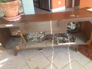 Need design help with retro-fitting a stereo console with