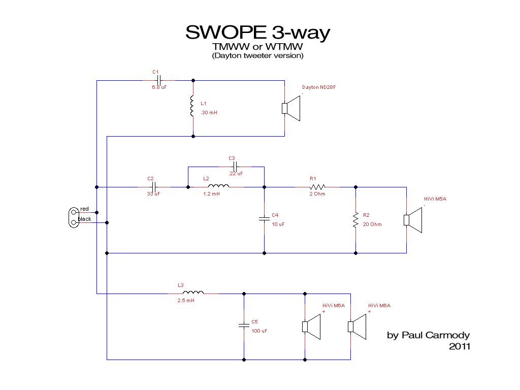 swope 3way tower crossover - Techtalk Speaker Building, Audio, Video
