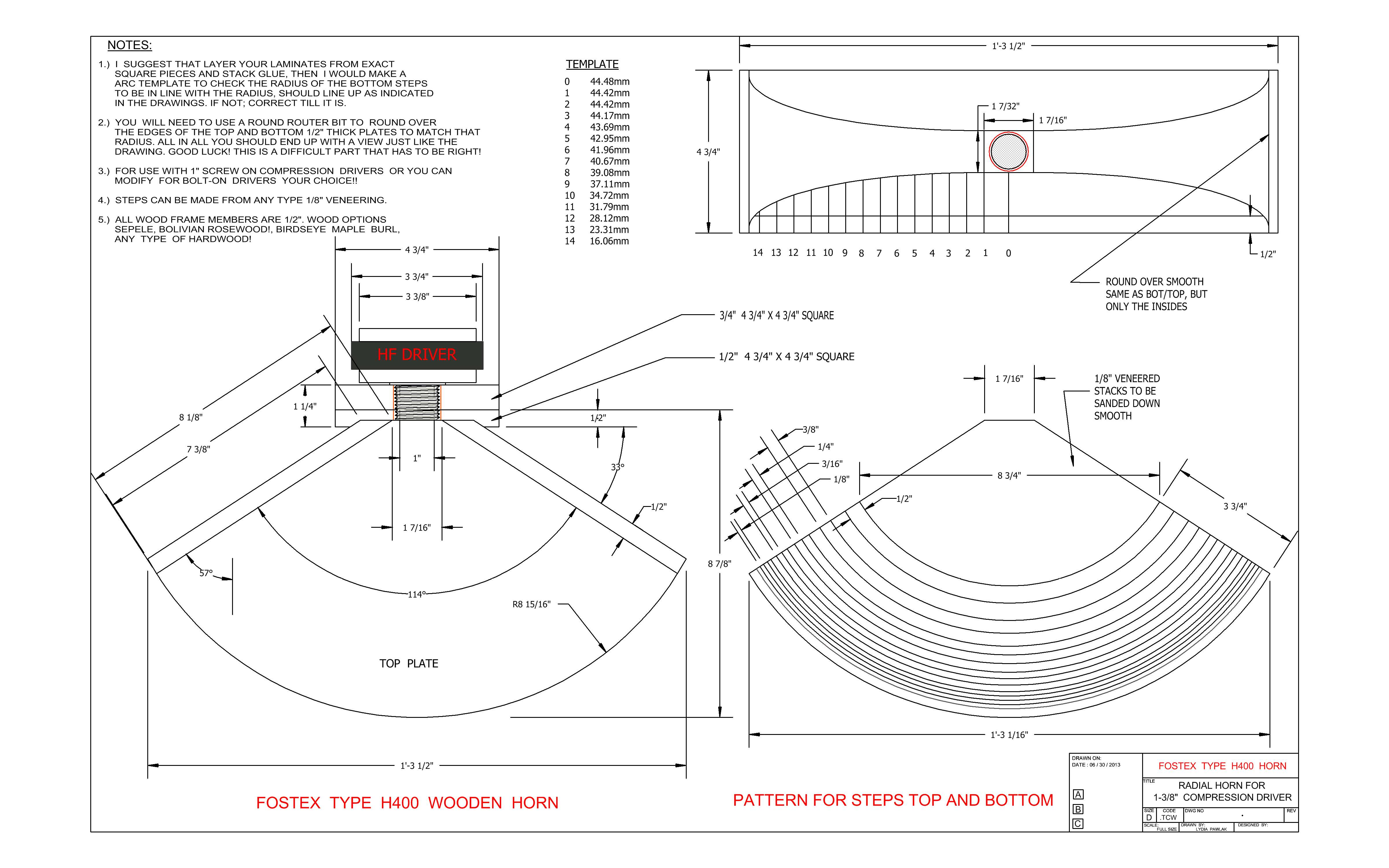 Here is construction plans for Fostex Type of H400 wooden