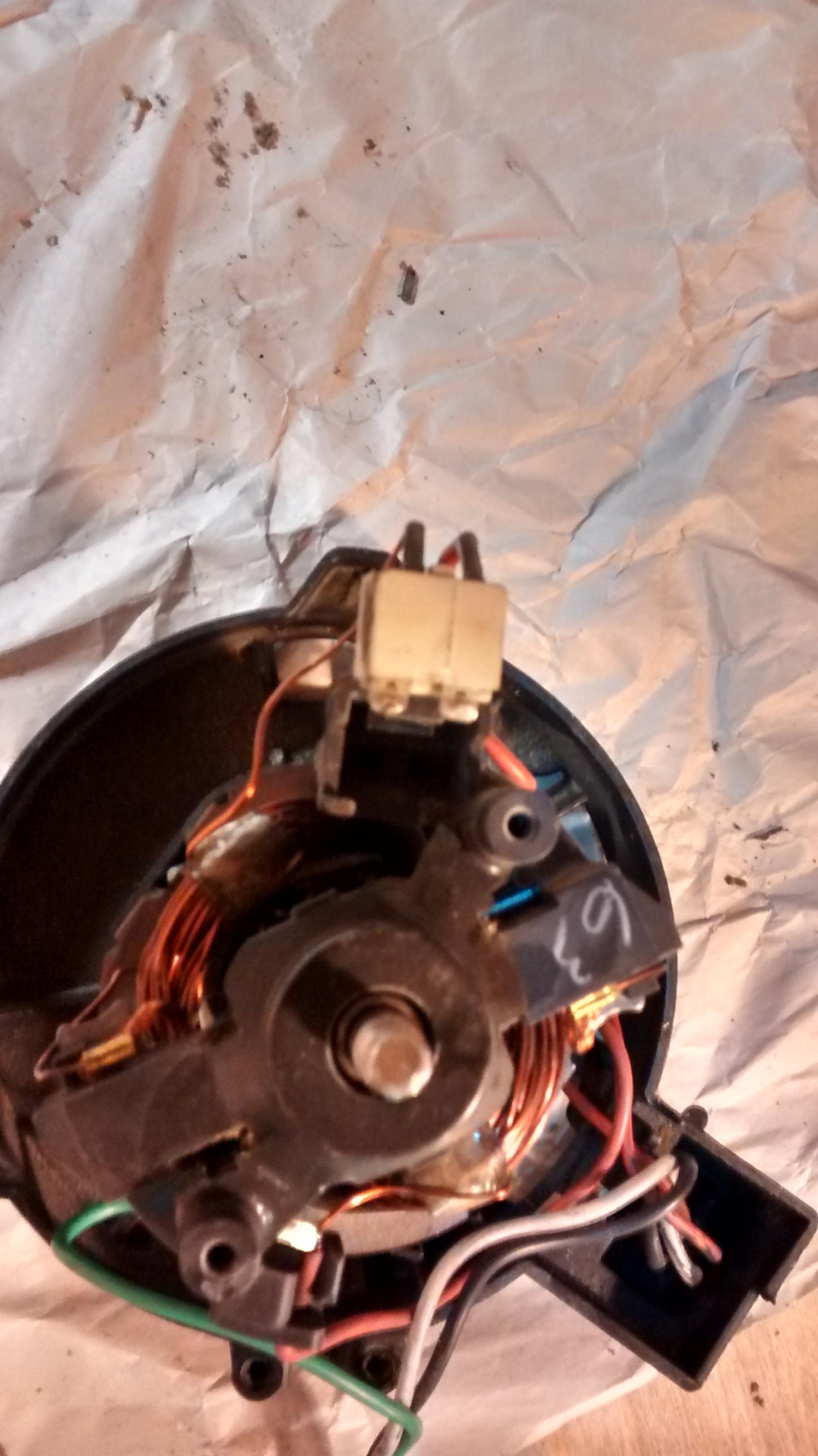 Ot Shop Vac Motor Repair Techtalk Speaker Building Audio Video Discussion Forum