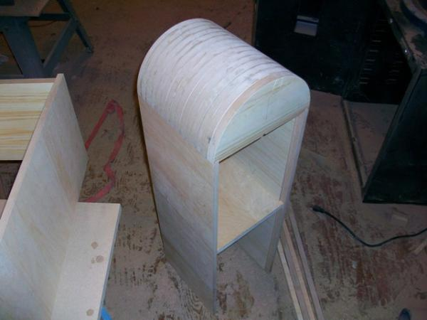 dome, sides, brace and bottom cut
