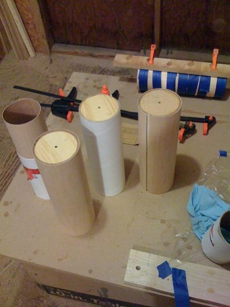 making tubes for the planar waveguide