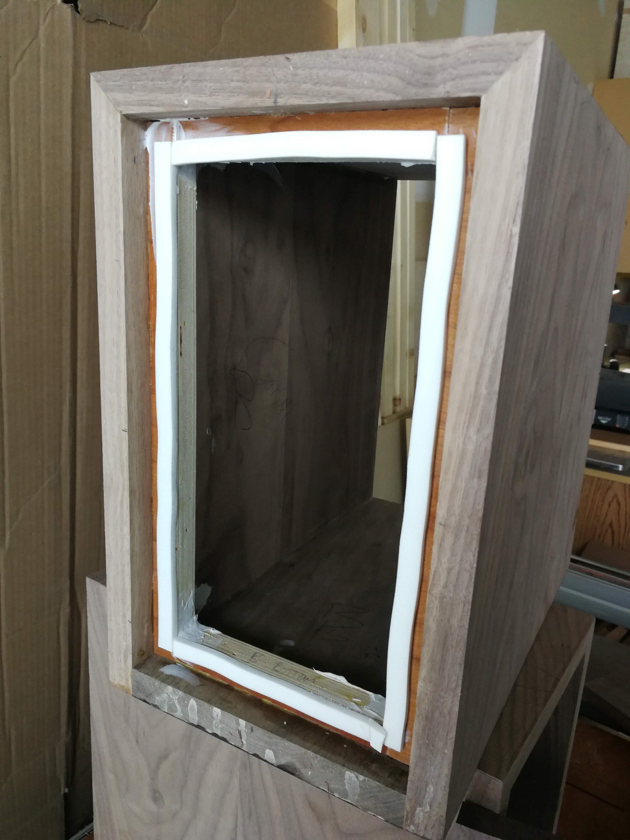 Rear of the cabinet with gasket installed